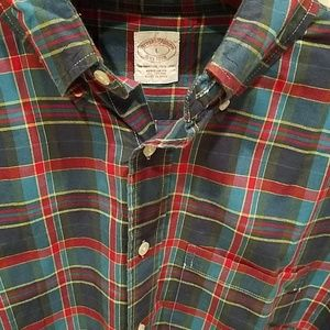 Brooks Brothers Shirt Large All Cotton Short Sleev
